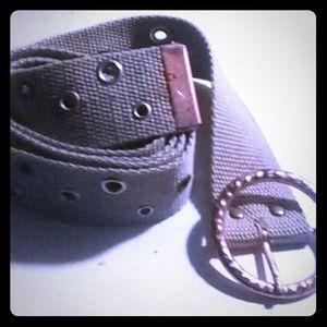 Copper silver and bronze belt